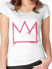 Crown (Pink) Women's Fitted Scoop T-Shirt