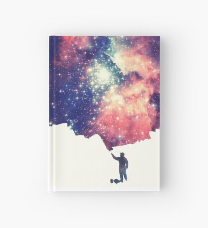 Painting the universe (Colorful Negative Space Art) Hardcover Journal