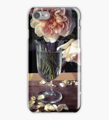 Roses in Footed Vase iPhone Case/Skin