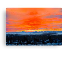 Breathtaking Chinook Sunset On The Rockies Canvas Print