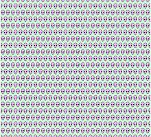 Alien Pattern {Lavender on Mint} by IggyMarauder