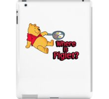 Where is Piglet? Winnie frying bacon. iPad Case/Skin