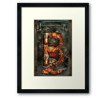 Steampunk - Alphabet - B is for Belts Framed Print