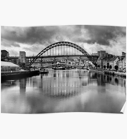 River Tyne Bridges Poster