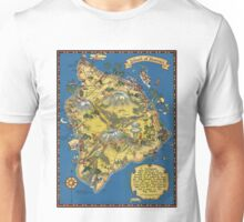 Vintage 1935 Hawaii island map design - fashion gift ideas for Christmas - birthday gift - Memorial day gift Unisex T-Shirt
