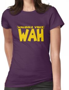 Wah Waluigi Voice Womens Fitted T-Shirt