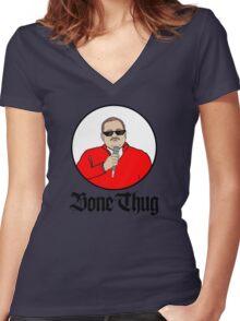 Ken Bone Thug Life Bone Thug Women's Fitted V-Neck T-Shirt