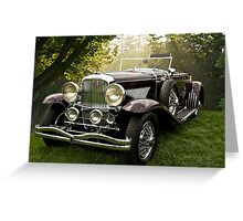 1935 Dusenberg SJ Convertible Coupe Greeting Card