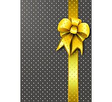 Gold Present Bow Photographic Print