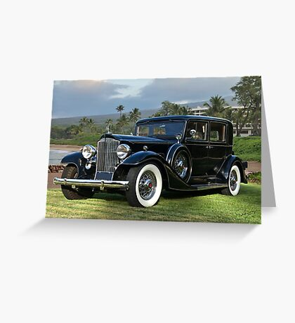 1933 Packard Super 8 Sedan Greeting Card