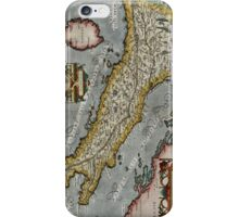 Vintage Map of Italy (1584)  iPhone Case/Skin