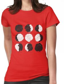 Kitty Lunar Cycle_Mint Womens Fitted T-Shirt