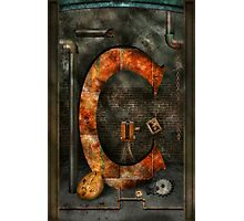 Steampunk - Alphabet - C is for Chain Photographic Print
