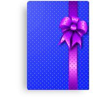Purple Present Bow Canvas Print