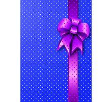 Purple Present Bow Photographic Print
