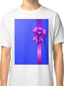 Purple Present Bow Classic T-Shirt