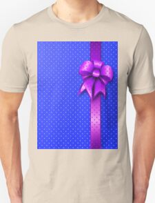 Purple Present Bow Unisex T-Shirt