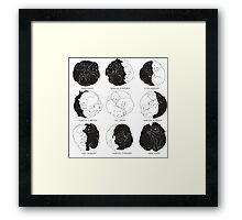 Kitty Lunar Cycle_White Framed Print