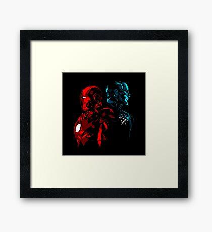 Captain Iron Framed Print