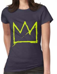 Crown (Green) Womens Fitted T-Shirt
