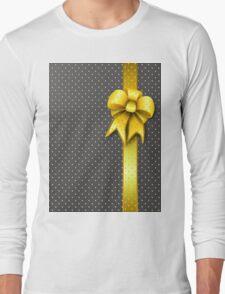 Gold Present Bow Long Sleeve T-Shirt