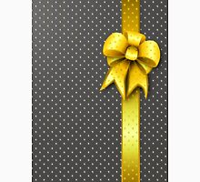 Gold Present Bow Unisex T-Shirt