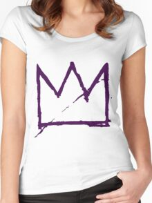 Crown (Purple) Women's Fitted Scoop T-Shirt