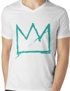Crown (Teal) Mens V-Neck T-Shirt