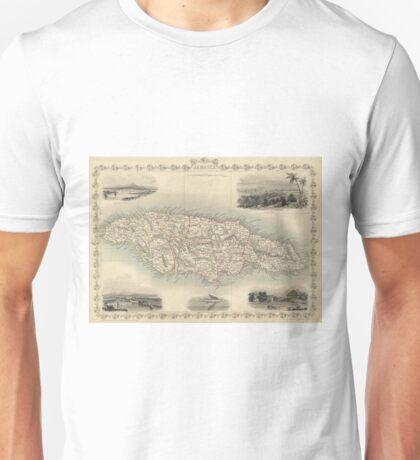 Vintage Map of Jamaica (1851) Unisex T-Shirt
