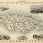 Vintage Map of Jamaica (1851) by BravuraMedia