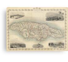 Vintage Map of Jamaica (1851) Metal Print