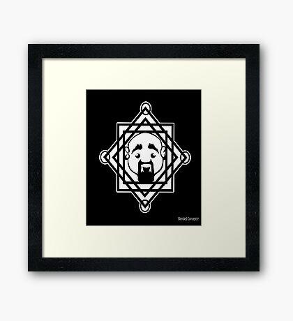 Geometric Steve Framed Print