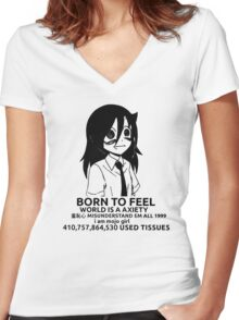 Tomoko - Born to Feel Women's Fitted V-Neck T-Shirt