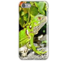 Bright Green Iguana iPhone Case/Skin