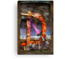 Steampunk - Alphabet - D is for Death Ray Canvas Print