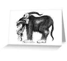 Grundle Beast Greeting Card