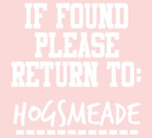 If Found, Please Return to Hogsmeade One Piece - Long Sleeve