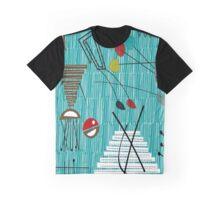 Mid-Century Tiki Tok Graphic T-Shirt
