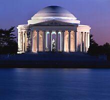 Thomas Jefferson Memorial at Dusk  by BravuraMedia