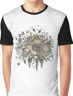 Bouquet from flowers, leaves, spirals, berries Graphic T-Shirt