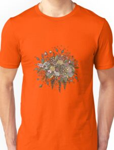 Bouquet from flowers, leaves, spirals, berries Unisex T-Shirt