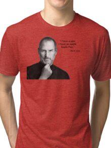 Apple pen steve jobs Tri-blend T-Shirt