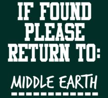 If Found, Please Return to Middle Earth by rexannakay