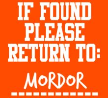 If Found, Please Return to Mordor Kids Clothes