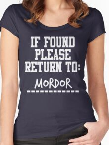 If Found, Please Return to Mordor Women's Fitted Scoop T-Shirt