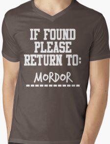 If Found, Please Return to Mordor Mens V-Neck T-Shirt