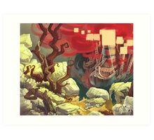 Red Ships Art Print