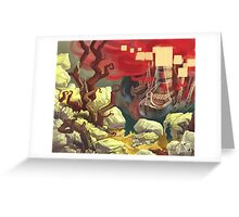 Red Ships Greeting Card