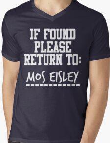 If Found, Please Return to Mos Eisley Mens V-Neck T-Shirt