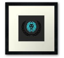Lion Logo Framed Print